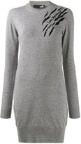 Love Moschino embellished detail knit dress