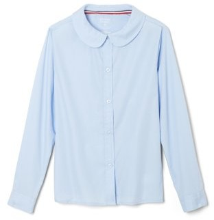 French Toast Girls School Uniform Long Sleeve Modern Peter Pan Collar Blouse, Sizes 4-20