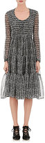 Derek Lam Women's Crocodile-Print Silk Georgette Tiered Dress