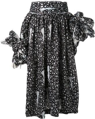 Comme des Garcons D pattern knotted jumper-skirt