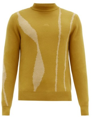 A-Cold-Wall* Terrain-jacquard Wool Sweater - Yellow