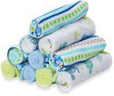 SpaSilk 10-Pack Washcloth Set in Blue Lines