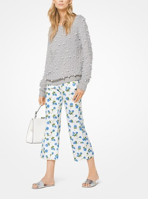 Michael Kors Collection Rose Satin Duchesse Cropped Pants