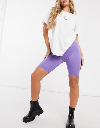 ASOS DESIGN Hourglass basic legging short in lilac