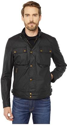 Belstaff Racemaster 6 oz Waxed Cotton Jacket (Black) Men's Clothing