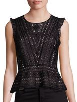 Parker Terri Silk Eyelet Lace Top