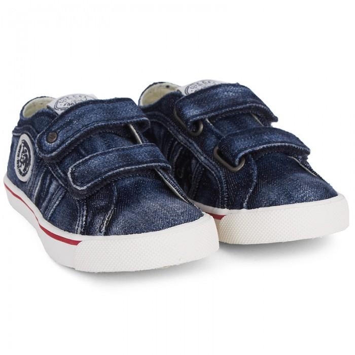 Diesel Denim Velcro Strap Sneakers