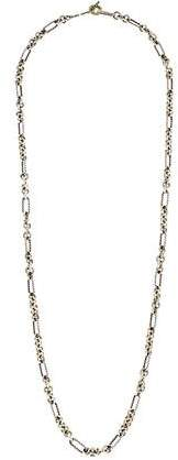 David Yurman Two-Tone Cushion Cable Link Necklace