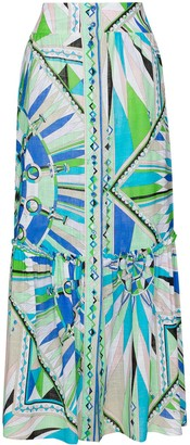 Emilio Pucci Bes print maxi skirt