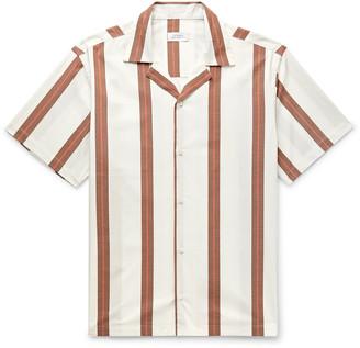 Saturdays NYC Canty Camp-Collar Striped Cotton-Poplin Shirt