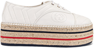 Gucci Pilar Platform Sneakers in Great White | FWRD