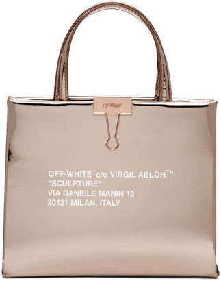 Off-White Off White Rose Gold Mirror Box Bag