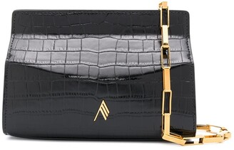 ATTICO Logo Plaque Leather Shoulder Bag