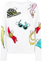 Moschino sticker intarsia jumper