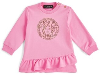 Versace Kids Medusa Print Ruffle-Trim Dress (3-36 Months)