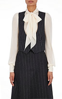 Saint Laurent WOMEN'S PINSTRIPED SHRUNKEN WAISTCOAT