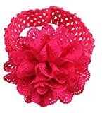TRENDINAO Lovely Baby Infants Girls Chiffon Lace Dress Up Head band Hairband (Hot Pink)