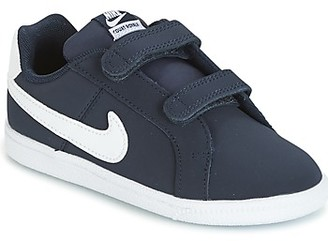 Nike COURT ROYALE TODDLER girls's Shoes (Trainers) in Blue