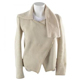 Isabel Marant Beige Shearling Jacket for Women