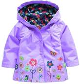 Shiny Toddler Little Girls Kids Waterproof Hoodied Coat Jacket RainCoat M5