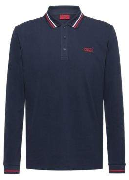 HUGO Regular-fit polo shirt with reverse-logo embroidery