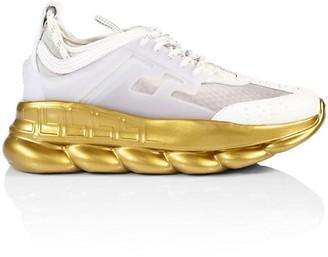 Versace Chain Reaction Metallic Sneakers