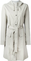 Rains zip-up coat - women - Polyester/Polyurethane - XXS