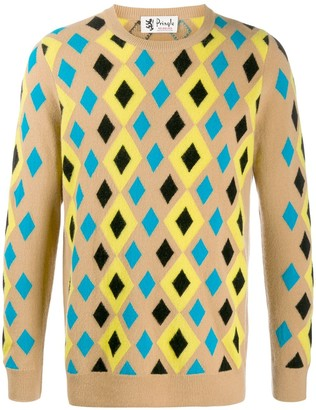 Pringle Reiussed abstract diamond jumper