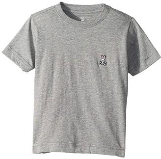 Psycho Bunny Kids Crew Neck Tee (Toddler/Little Kids/Big Kids) (Heather Grey) Boy's T Shirt