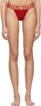 Versace Underwear Red Medusa Thong