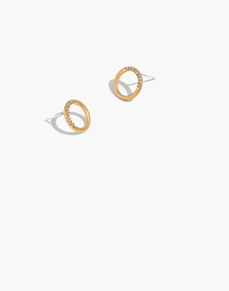 Madewell Pave Circle Stud Earrings