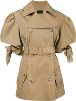 Simone Rocha belted trench coat - women - Cotton/Polyamide - 6
