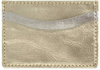 Vida Vida Zing Gold and Silver Leather Card Holder