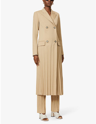 Sportmax Luigi double-breasted wool-blend midi dress