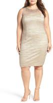 Eliza J Embellished Illusion Yoke Body-Con Dress (Plus Size)