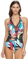 Apt. 9 Women's Mesh Halter One-Piece Swimsuit