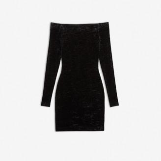 Balenciaga Open Shoulder Dress