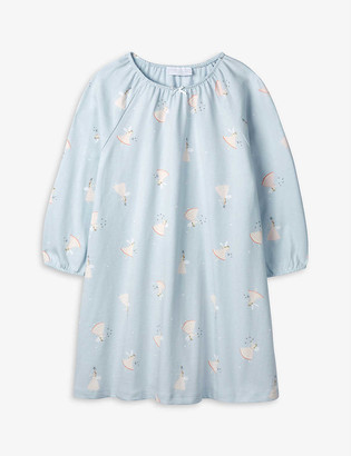 The Little White Company Fairy-print cotton nightdress 1-6 years