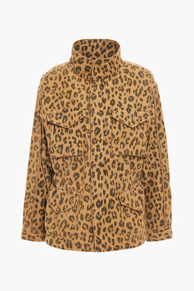 Frame Leopard-print Cotton-canvas Field Jacket