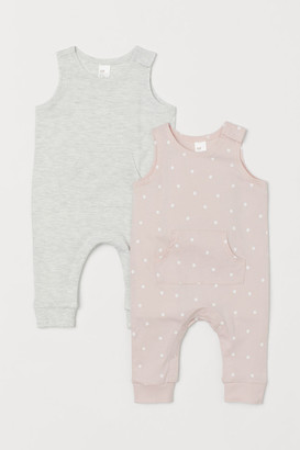 H&M 2-pack Sleeveless Romper Suits - Gray