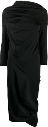 Comme Des Garçons Pre Owned 2000 Twisted Drape Dress