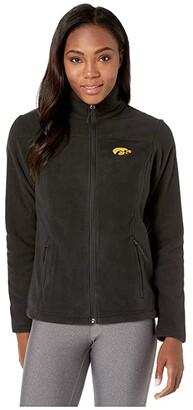 Columbia College Iowa Hawkeyes CLG Give and Gotm II Full Zip Fleece Jacket (Black) Women's Fleece