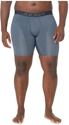 Jockey Athletic Rapidcooltm Big Man Midway(r) Brief (Black) Men's Underwear