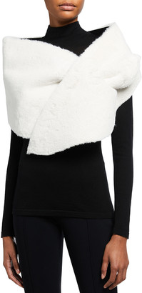 House Of Fluff Asymmetrical Pull-Through Teddy Scarf
