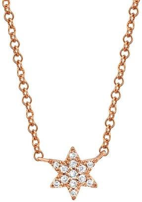 Saks Fifth Avenue 14K Rose Gold Diamond Star Of David Pendant Necklace
