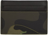 Valentino Green Camo Card Holder