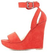 Charlotte Russe Two-Piece Wedge Sandals