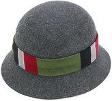 Gucci GG web cloche hat - men - Silk/Cotton/Polyamide/Rabbit Felt - L