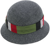 Gucci GG web cloche hat - men - Silk/Cotton/Polyamide/Rabbit Felt - S