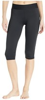 adidas Alphaskin Sport Capri Tights (Black/White) Women's Casual Pants